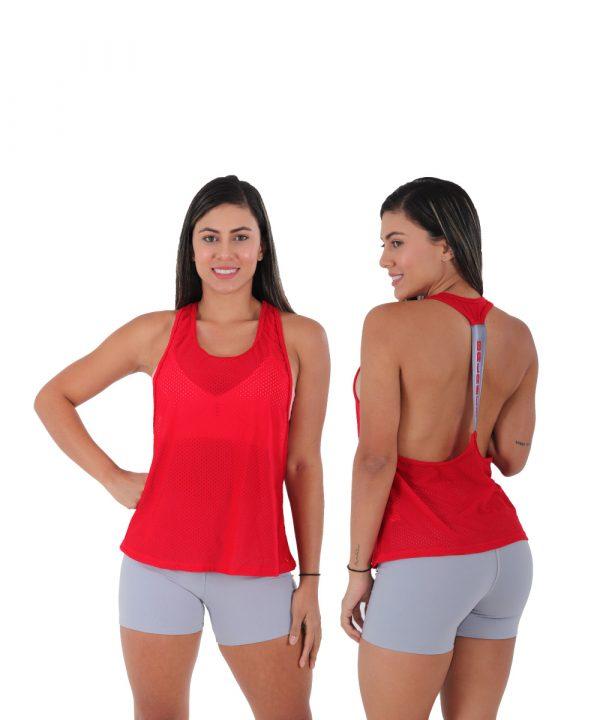 blusa con elastico en malla yael arany sport fabricantes de ropa deportiva en Cali