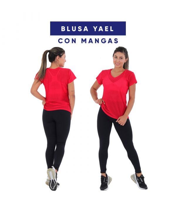 blusa con mangas en malla yael arany sport fabricante de ropa deportiva en colombia