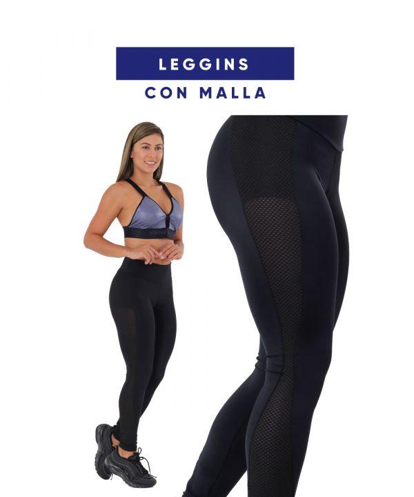 Leggins Nylon Con Malla fabricantes de ropa deportiva tienda online arany sport