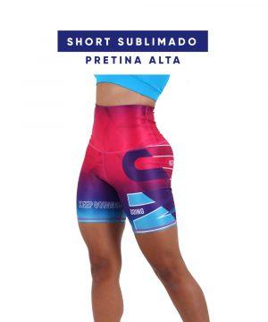 Shorts Sublimados Pretina Alta