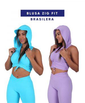 Blusa Zig Fit en Tela Brasilera