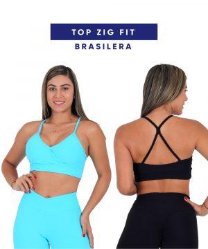 Top Zig Fit en Tela Brasilera